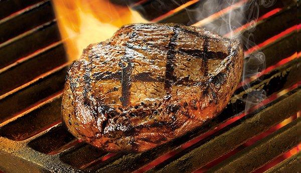 Black River steak on grill