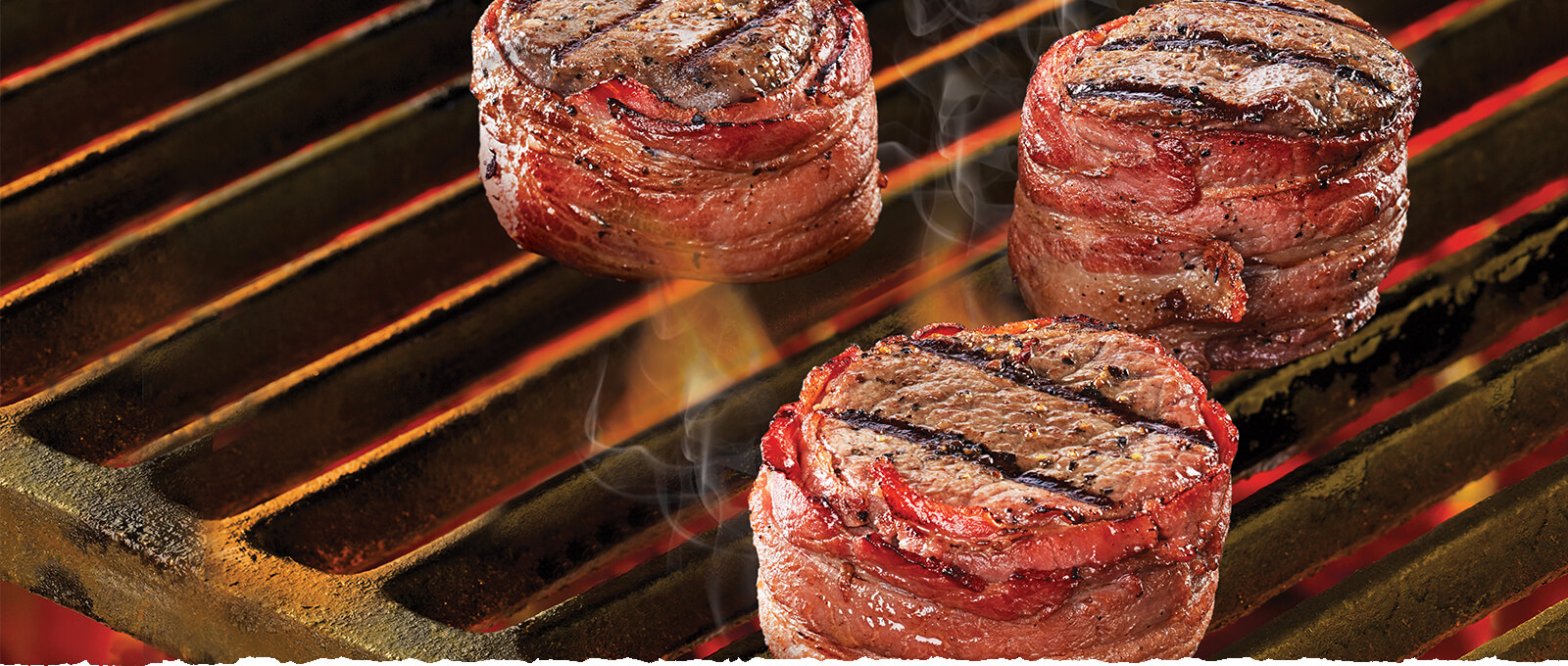 Black River beef medallions on grill