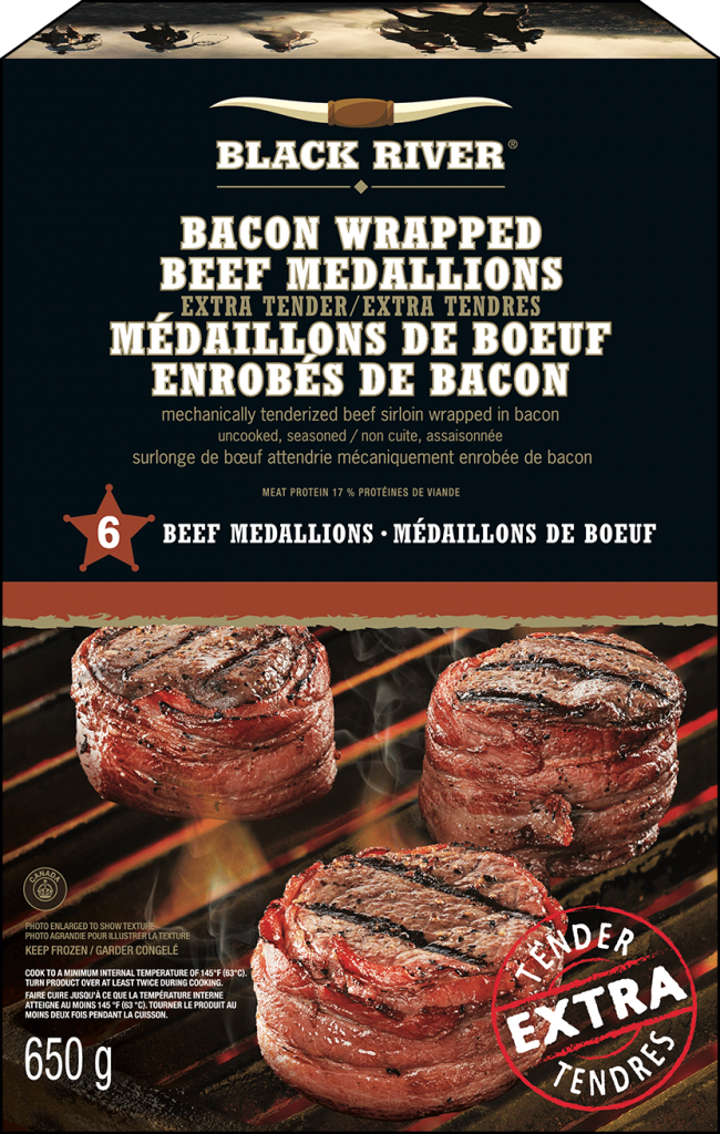 Black River beef medallions 650g packaging